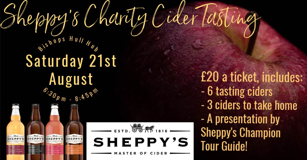 Sheppy's Charity Cider Tasting Evening
