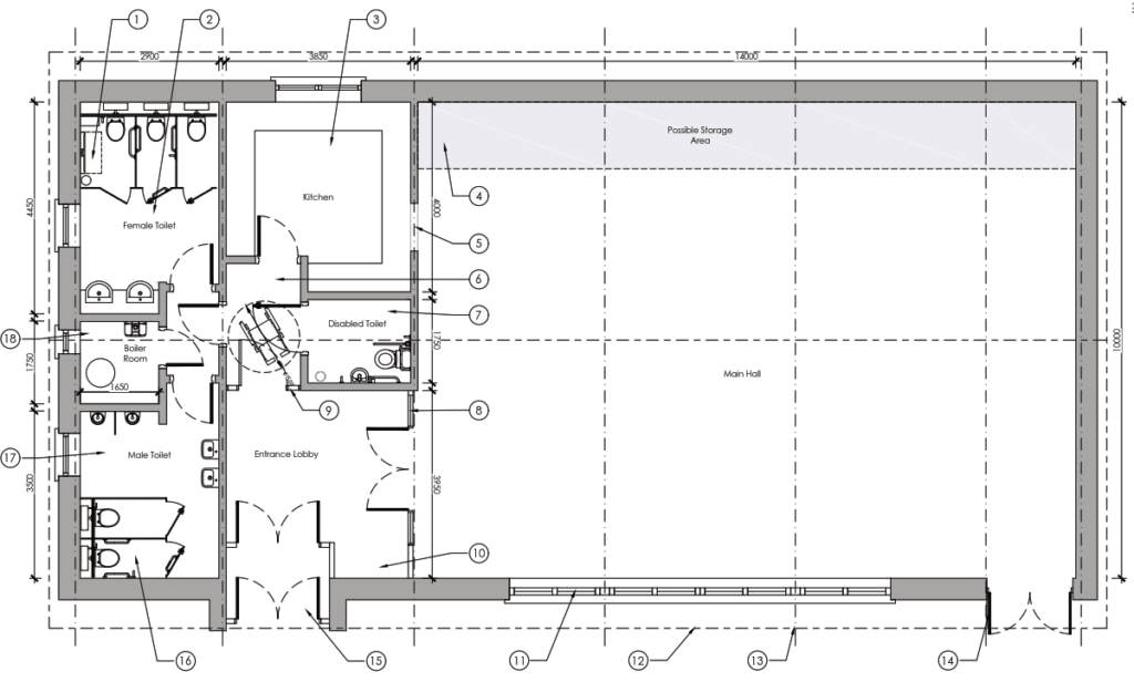 Original architects layout