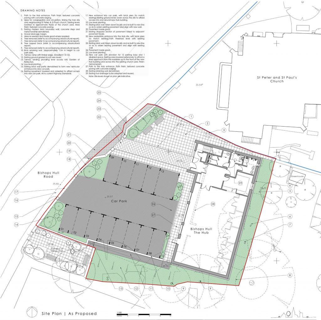 Bishops Hull Hub Site Plan